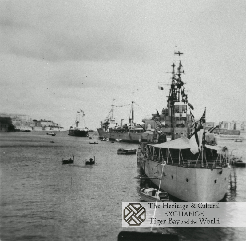 Royal Yacht and escort vessels photo