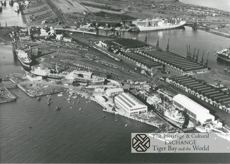 Aerial photo of Dry Docks