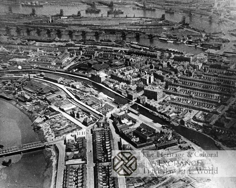 Aerial Photo of canal and Docks
