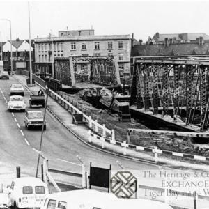 Photo of demolition of Clarence Road bridge