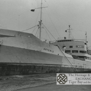 Photo of MV Artemis at quayside