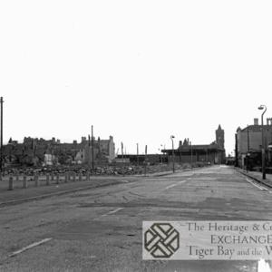 Stuart Street looking east toward Pierhead Building