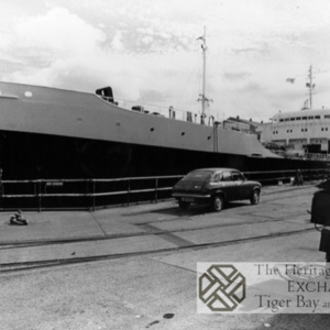 Photo of MV Partula in dry dock