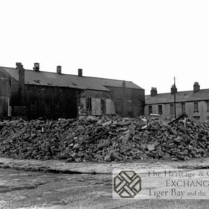 Demolition rubble in Dudley Street